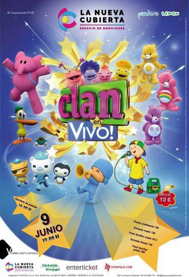 """Espectáculo para niños en La Nueva Cubierta """"Clan en vivo"""""""