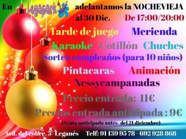 Fiesta de Nochevieja para niños en Legapark